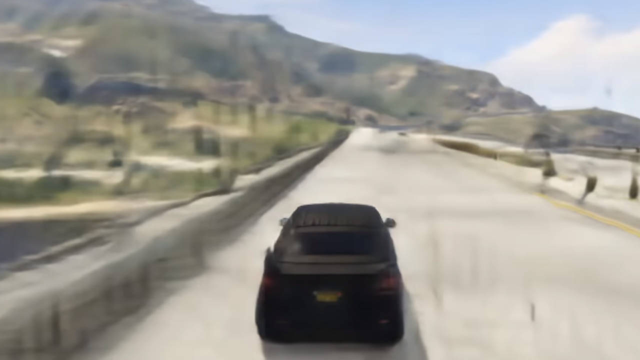 GTA V recreated by artificial intelligence on a special machine from Nvidia