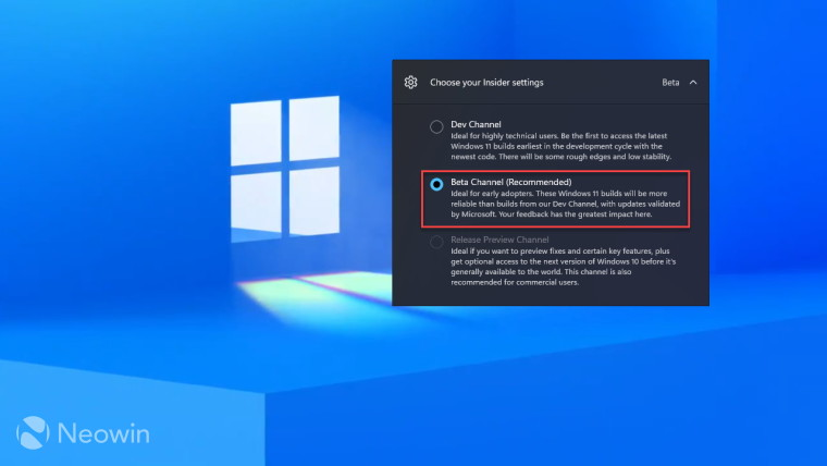 How to switch to the Beta Channel in Windows 11 Insider Preview